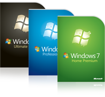 Дизайн коробок Windows 7
